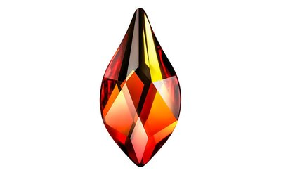 Swarovski Flat Backs 7,5mm Fire Opal Flame 6 stks.