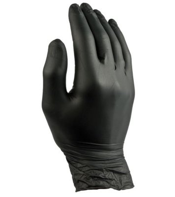 Nitril Black Gloves 'L' 100pcs