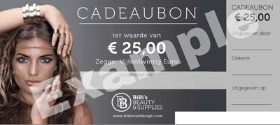 Gift Card Value € 25,-