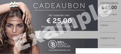 Cadeaubon t.w.v. € 25,-