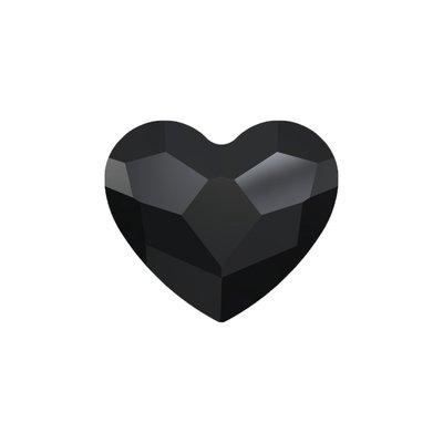 Swarovski Flat Backs Black Heart 6mm 6stks. (78)
