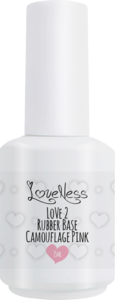 LoveNess | Love 2 Rubber Base Camouflage Pink 15ml