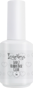 LoveNess | Love 2 Rubber Base Clear 15ml